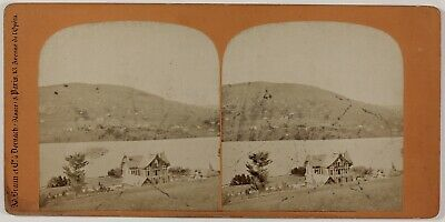 Lac de Gerardmer Vosges France Photo Braun Stereo PL28Th1n37 Vintage Albumine