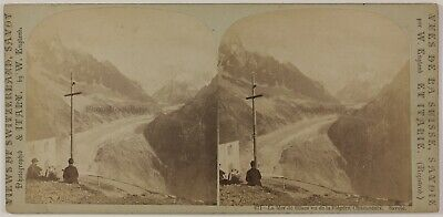 Mer de Glace Chamonix France Photo England Stereo PL28Th1n38 Vintage Albumine