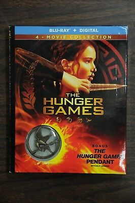 The Hunger Games: Complete 4 Film Collection (Blu-ray+Digital) w/Pendant