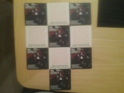 Paul Heaton. The Last King Of Pop. Limited Edition Beer Mats. X10