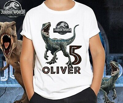 e9f5a9b6 Jurassic World Park Customize Name and Age Birthday Youth T-shirt Size XS-XL