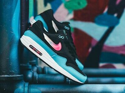 wholesale dealer ea9b3 20623 Nike Air Max 1 City Brights Men s Shoes Lifestyle Comfy Sneakers Laser  Fuchsia