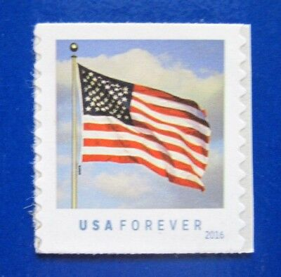 Sc # 5052 ~ Forever Issue, U.S. Flag, Coil Single w/ USPS to right of pole