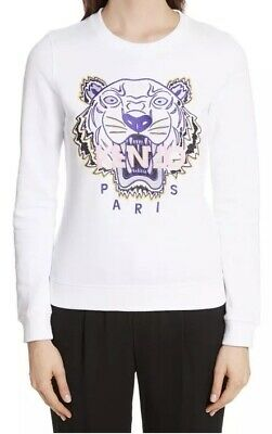 5a18cdce Kenzo NEW NWT White Pink Crew Tiger Sweatshirt Pullover Shirt Top XS Sold  Out