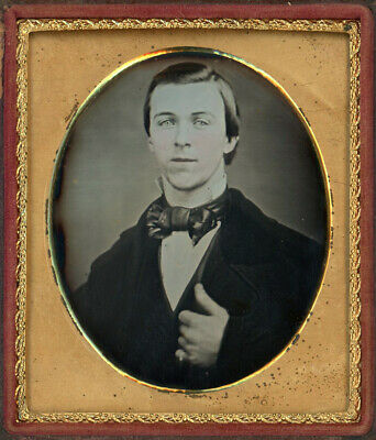 Closeup Of George Hanshew With Hand On Lapel Dag Daguerreotype