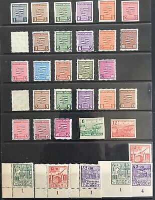 Germany: Allied Occupation 1945-1946 Saxony issues with/without Wmk MNH/MLH