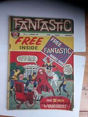Fantastic Comic (no 3) March 1967 in Good Condition for age