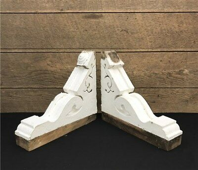 Antique Pair Victorian Corbels Shelf Bracket Architectural Salvage Gingerbread d