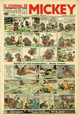 """LE JOURNAL DE MICKEY N° 90 (5/7/1936)"" Mickey et son Kangourou: Mickey triomphe"