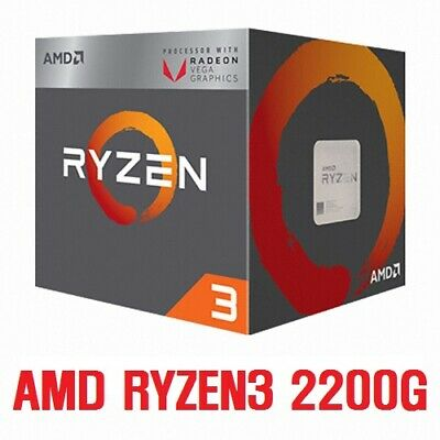 AMD Ryzen 3 2200G - 3.5 GHz 4 core 4 threads Socket AM4 Kosteneffizient CPU