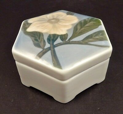 Antique Rosenthal Porcelain Trinket Box, Hand Painted