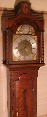 "Antique Mahogany "" Malton "" 8 Day Grandfather / Longcase Clock"