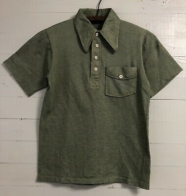42cd9258 Vintage 1960s 60s SEARS Kings Road Polo Shirt Sz S Small ROCKABILLY Green