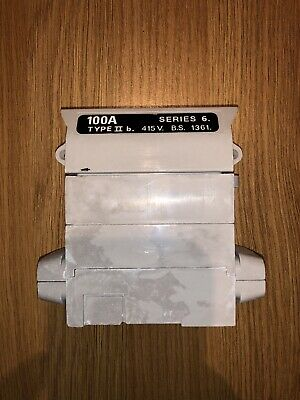Henley House Service Cut Out Fuse Carrier & Base 100AMP Rated