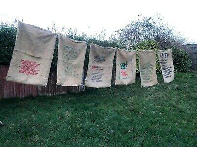 HessianJute Genuine Coffee Sacks. crafts, upholstery, gardening shop displays,