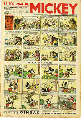 """LE JOURNAL DE MICKEY N° 101 (20/9/1936)"" Mickey sait y faire"