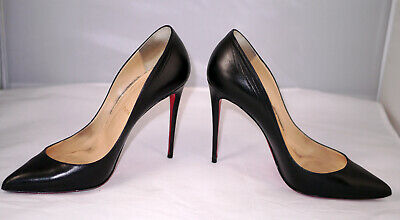 promo code 85276 67303 CHRISTIAN LOUBOUTIN PIGALLE Follies 100 Black Kid 41, defects, see  description