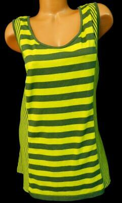 297348917c5d0 Lane bryant olive green yellow striped racer back women s plus size top  26 28W