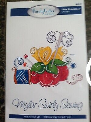Purely Gates Mylar Swirly Sewing with Applique Embroidery Software