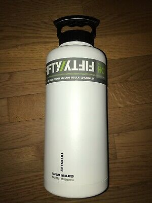 FIFTY/FIFTY Stainless Steel Double-Wall Vacuum Insulated Growler 64oz./1.9L -NEW