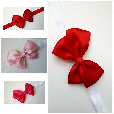 Baby girl bow headband hairband soft elastic newborn toddler hair accessories.,