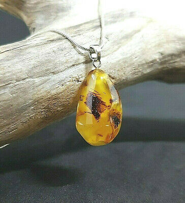 Beautiful Genuine Natural Baltic Amber Butterscotch/ White/ Multicolor Pendant