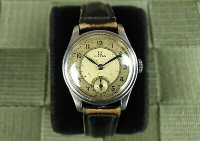 Art deco 1939 OMEGA cal. 26,5 SOB T2 15 jewels vintage stainless steel watch