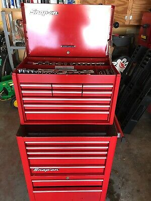 Snap On Tool Box With Snap On Tools 16 Drawers Ex Condition