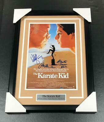 The Karate Kid Movie Poster 11X17 Signed Autographed Framed Photo Schwartz Coa