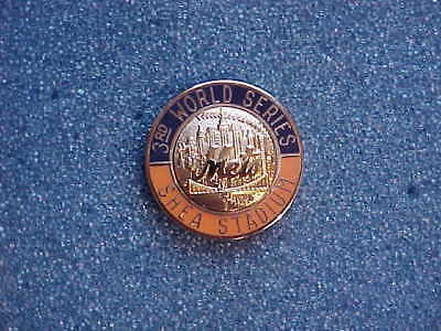 1986 New York NY Mets World Series Press Pin - Boston Red Sox