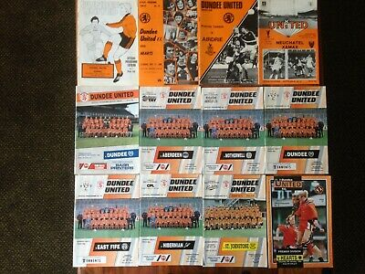 A bundle of twelve Dundee United programmes 1979/80 to 1993/94