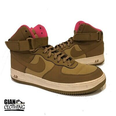 100% authentic 84577 d5f21 Nike Air Force 1 High  07 Men s Basketball Casual Shoes Golden Tan Pink Size