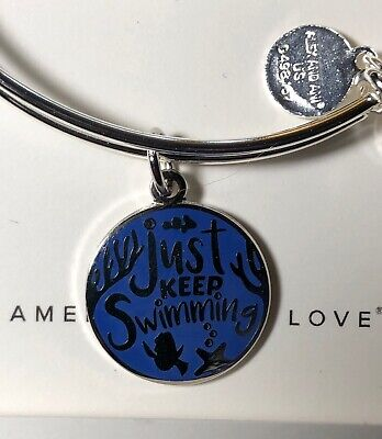 Disney Parks Alex And Ani Just Keep Swimming Dory Silver Bracelet