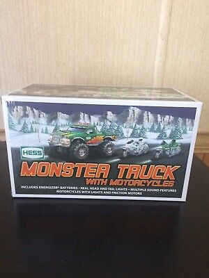 2007 Hess Toy Monster Truck W/motorcycles Fresh From Case