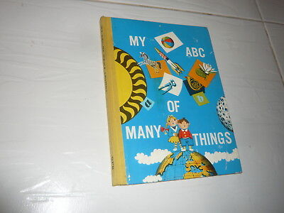 1961 My ABC of Many Things hardback adventure cartoon 1960s children's book