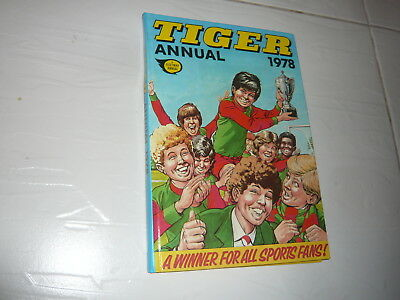 Tiger Annual Comic Book 1978 hardback adventure cartoon Football Sports 1970s