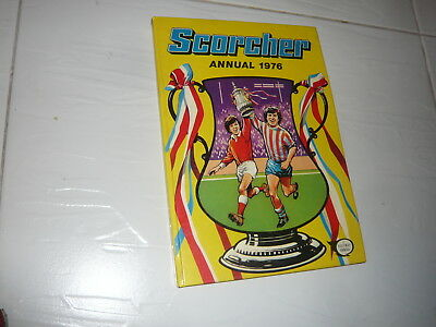 Scorcher Annual Comic Book 1976 hardback adventure cartoon Football Sports 1970s