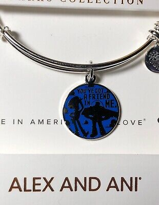 "Disney Parks Alex And Ani Toy Story "" You've Got A Friend In Me ""Silver Bracelet"