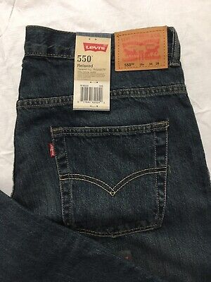 Levis 550 Jeans Boys Size 16 Husky 34x28 Tapered Leg Relaxed Fit Blue Denim NWT