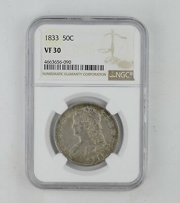 VF30 1833 Capped Bust Half Dollar - NGC Graded *0265