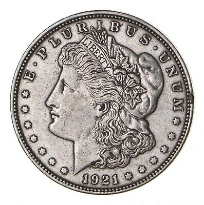 1921 - Morgan Silver Dollar - Last Year - 90% - US Coin *094
