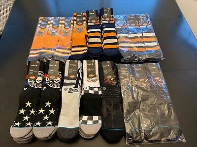 1x Harley Davidson STANCE Men's Socks Classic Medium Cushion SZ L Shoe Size 9-12
