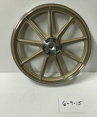 "NOS Harley 19"" Gold Mag Rim Wheel Dual Disc Sportster Sturgis FXSB 1977-83 Ironh"