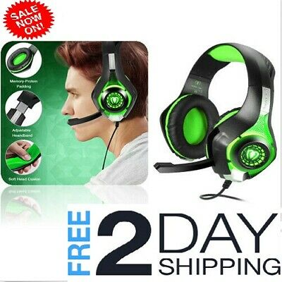 Pro Gaming Headset With Mic XBOX One Wireless PS4 Headphones Microphone Beats