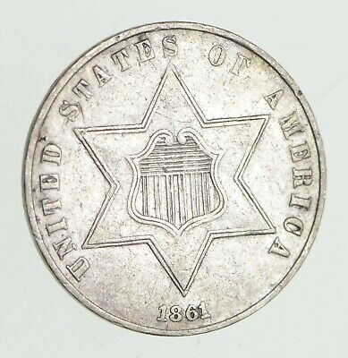 1861 Silver Three-Cent Piece - Trime *3118