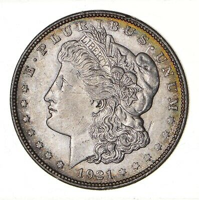 1921 - Morgan Silver Dollar - Last Year - 90% - US Coin *101