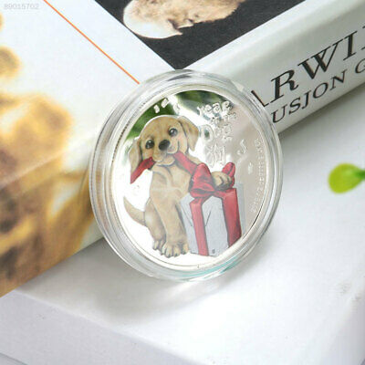 91F4 Silver Arts and Crafts Commemorative Coin Year Of Dog DOGE Decoration Gift