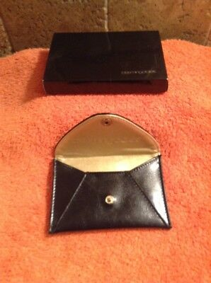 1830c30e8407a9 BLOOMINGDALES Small Credit Gift Card ID Snap Wallet Black Leather NEW IN BOX