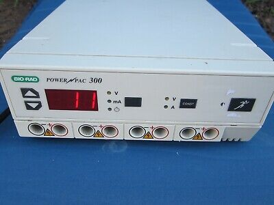 Bio-Rad PowerPac 300 Electrophoresis Power Supply - Tested - Works - No Cords