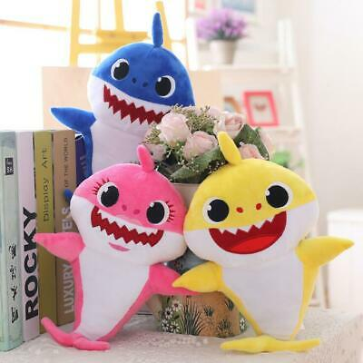 Baby Shark Plush Singing English Song Cartoon Music Doll Soft Toy for Kids